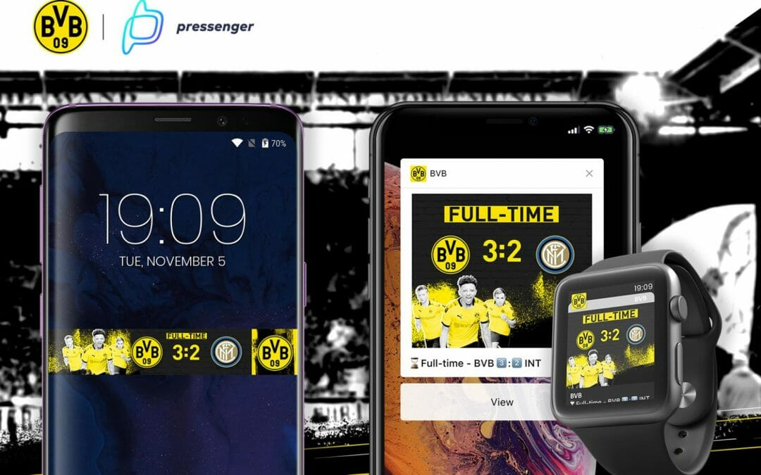 Borussia Dortmund uses Pressenger's Visualized Notifications