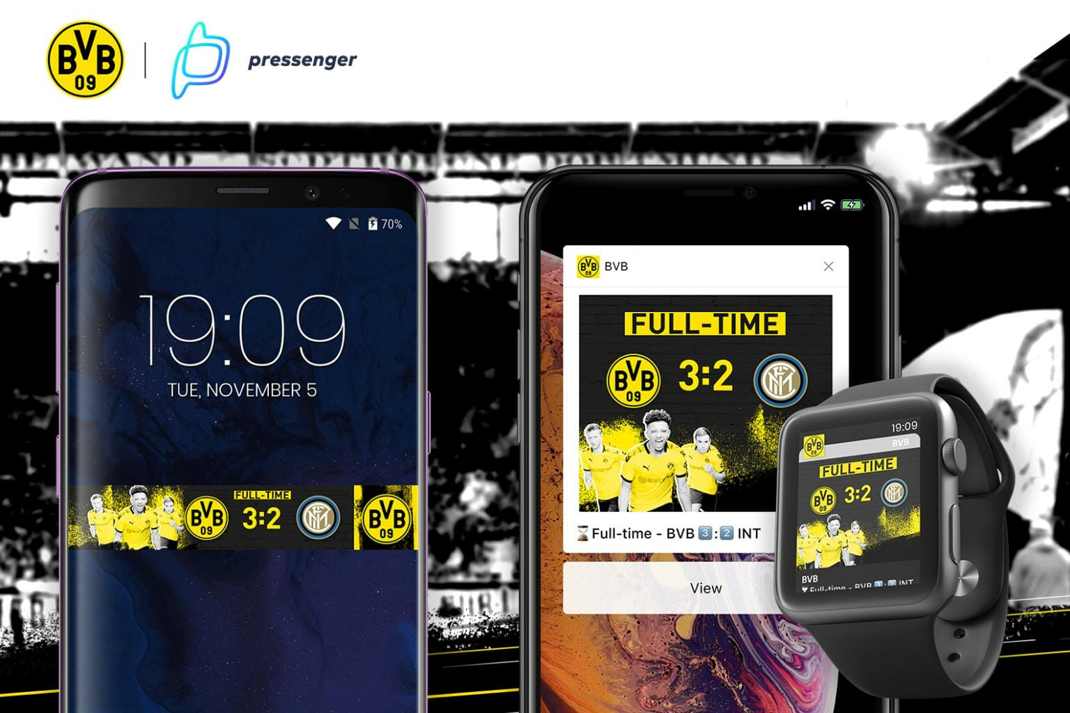 BVB Dortmund uses Pressenger's Visualized Notifications
